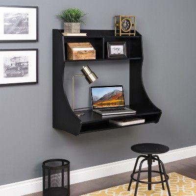 Compact Hanging Desk Black Prepac Target Black Desk Prepac Wall Mounted Desk