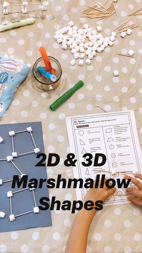 2D & 3D Marshmallow Shapes