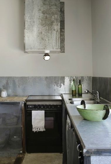 Metal Backsplash Camper Pinterest Kuche Kuchen Design And