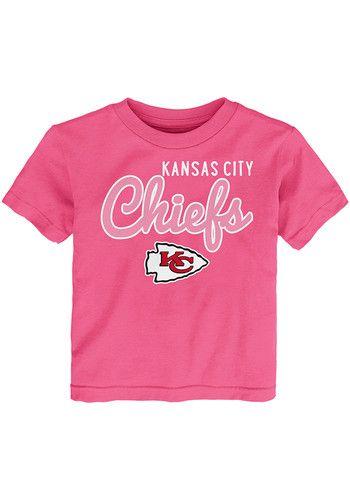buy online 87713 ce169 Kansas City Chiefs Toddler Girls Pink Big Game Short Sleeve ...