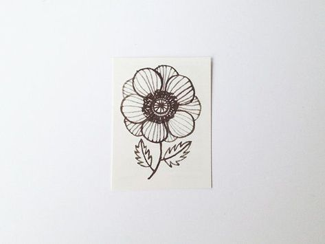 Your place to buy and sell all things handmade -  Anemone temporary tattoo by oanabefort on Etsy  - #arttattoo #buy #diytattoopermanent #handmade #initialtattoo #inspirationaltattoos #place #sell #tattooideas #temporarrytattoo