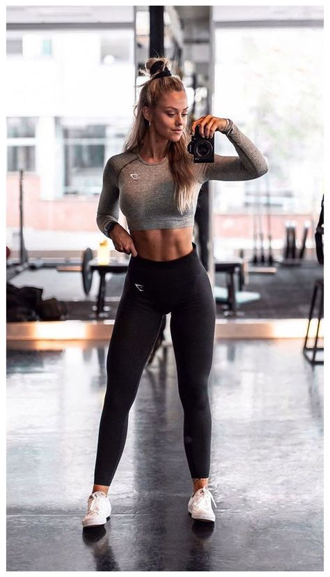 Cute Workout Outfits, Workout Attire, Workout Wear, Nike Workout, Womens Workout Outfits, Sport Fitness, Fitness Goals, Body Fitness, Gym Fitness