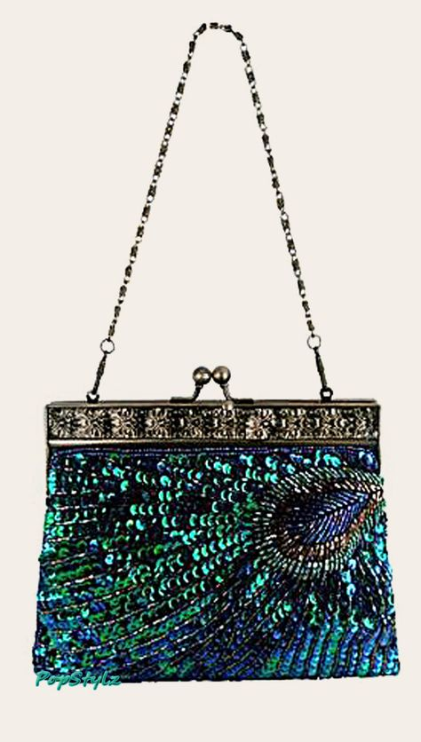 MG Collection Antique Beaded Handbag
