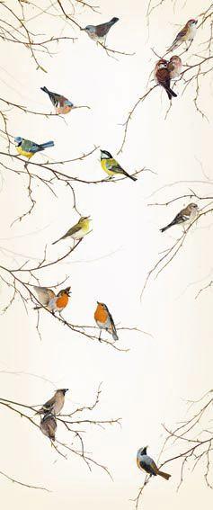 Brewster Home Fashions Komar Birds 2-Panel Wall Mural