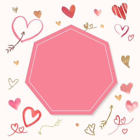 Vecteur de style Aquarelle fond Saint Valentin Vecteur gratuit