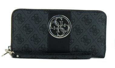 Guess Geldtasche Damen Bluebelle Coal schwarz grau 4G Logo