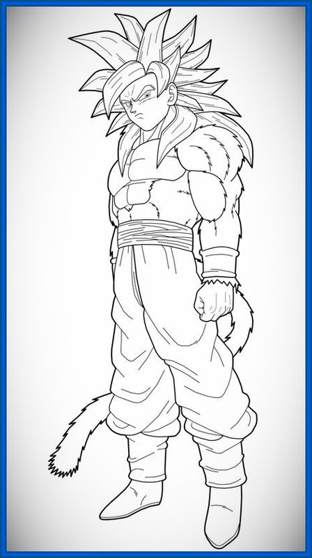 Goku Ssj4 Para Dibujar Dibujo De Goku Dibujos Dragones