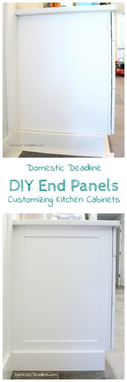 Diy Cabinet End Panels Domestic, Finishing Kitchen Cabinet Ends