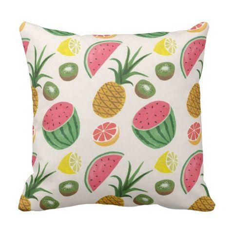 pineapple MELON Throw Pillow