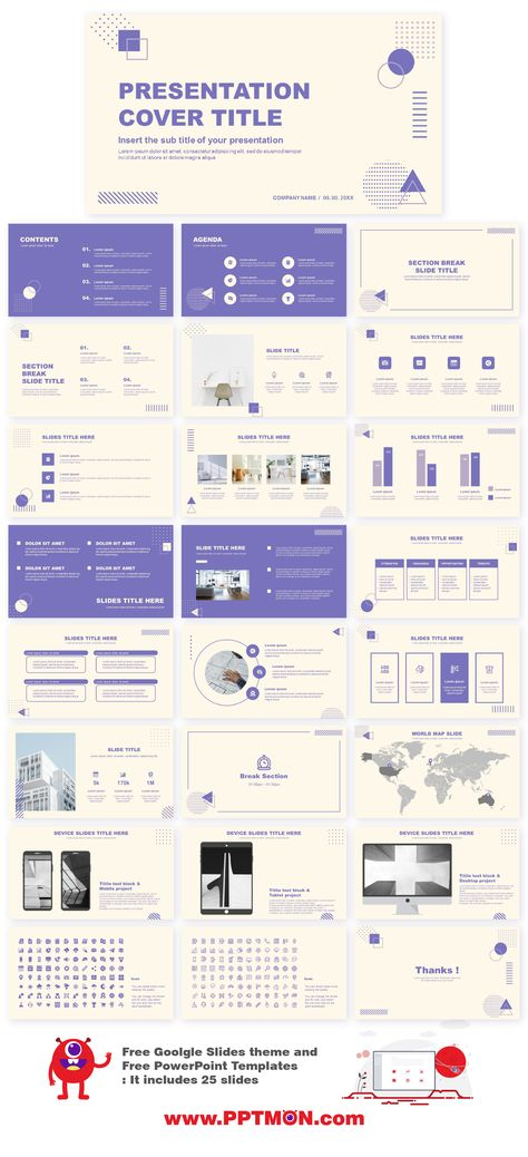 Abstract Purple Free Presentation Templates – Free Google Slides Theme and PowerPoint Template