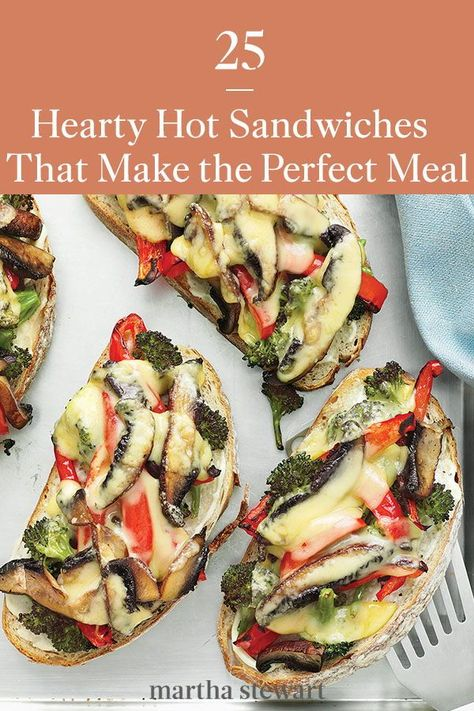From classic sandwiches like the Rueben to newfound favorites like pizza sandwiches, explore some of our top creations that make for a tasty, quick meal, no matter the time of day. #marthastewart #recipes #recipeideas #familydinner #weeknightdinners #familyfriendlyrecipes