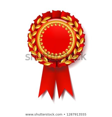 Red Award Ribbon Vector Certificate Banner Celebration Tag Advertising Event 3d Realistic Illustration Award Ribbon Vector Prints For Sale