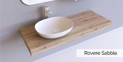 Mensola per lavabo mensolone bagno in legno laminato Rovere ...