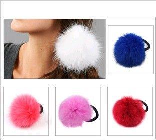 groothandel gratis verzending 12 stuks faux konijnenbont pluizige elastische haar houder band scrunchie in van op Aliexpress.com