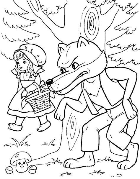 Pin Oleh Gelis Nia Di Red Riding Hood Coloring Pages