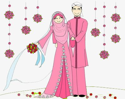 Muslim Wedding Wedding Clipart Cartoon Marry Png