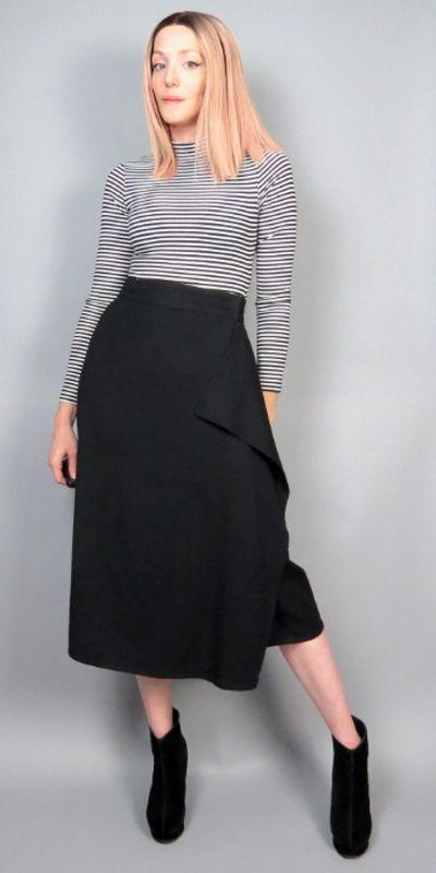 Wrap wool skirt ANNE