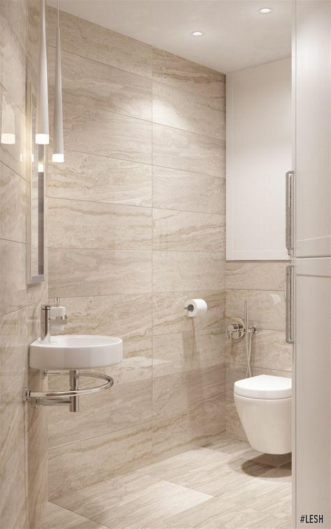 Modern Bathroom Lesh Design Interior Bathroom Small Modern Beige White Porcelain Tile Beige Tile Bathroom Modern Bathroom Tile Modern Bathroom Design