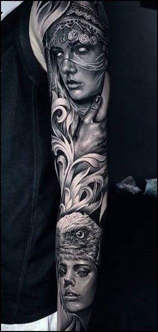 Sleeve Tattoo 50 Newest Full Sleeve Tattoo Ideas Free Tattoo Designs In 2020 Sleeve Tattoos Portrait Tattoo Sleeve Full Sleeve Tattoos