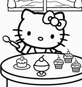 Hello Kitty For Coloring Part 4 Kitty Coloring Hello Kitty Colouring Pages Hello Kitty Coloring