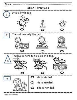 Sat 10 Kindergarten Practice Sentence Reading Pack 1 Kindergarten Practice Kindergarten Reading Kindergarten
