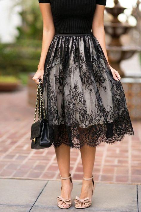 Pd81219 New Arrival Skirt, Street Style Skirt,Lace Skirt,Fashion Women Skirt,Spring Autumn Skirt ,Knee-Length Skirt