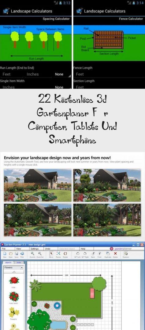 22 Kostenlose 3d Gartenplaner Fur Computer Tablets Und Smartphone In 2020 Landscape Inch Feet Fence
