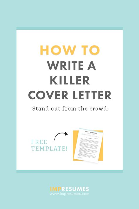 How To Quickly Write a Killer Cover Letter Cover letter example - how to make a cover letter stand out