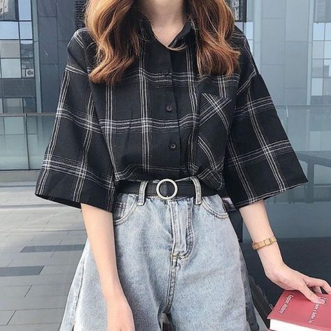 Woman casual clothes aesthetic style summer 2020 sweet japan fashion instagram highschool