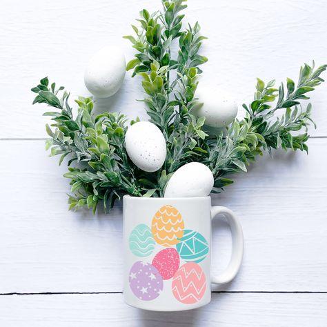 Easter Egg SVG File, png file | Easter SVG bundle | Cute Easter SVG | Silhouette Cut File |