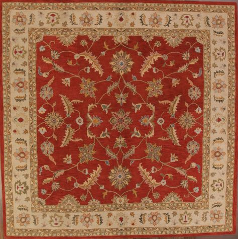 Classic Floral Square 12x12 Tabriz Persian Style Agra Oriental