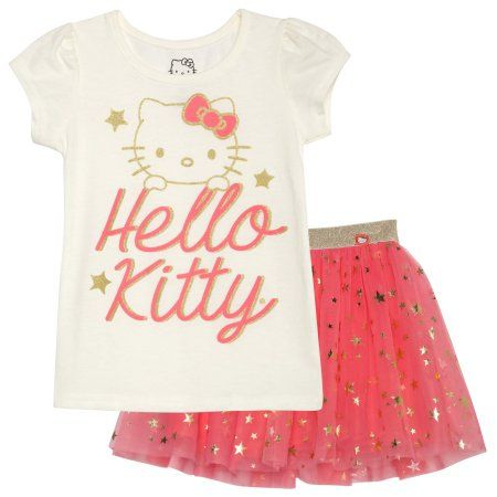 Hello Kitty Girls T-Shirt and Skirt Set