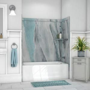 American Standard Colony 32 In X 60 In 5 Piece Glue Up Alcove Wall Bath Set In Silver Celestial 2978bwt 366 The Home Tub Surround Bathtub Walls Shower Wall