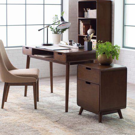 Belham Living Carter Mid Century Modern Writing Desk Walmart Com Walmart Com Writing Desk Modern Wood High Chairs Home