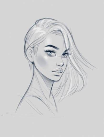 Best Drawing Faces Sketches Artworks Ideas Female Face Drawing Face Sketch Girl Face Drawing