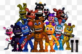Imagem Titlescreen Animatronics Png Fnaf World Wikia Fnaf World Menu Personagens Clipart Fun Games Horror Game Download Games