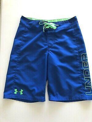 Ebay Link Boy S Under Armour Blue Green Swim Trunks Board Shorts
