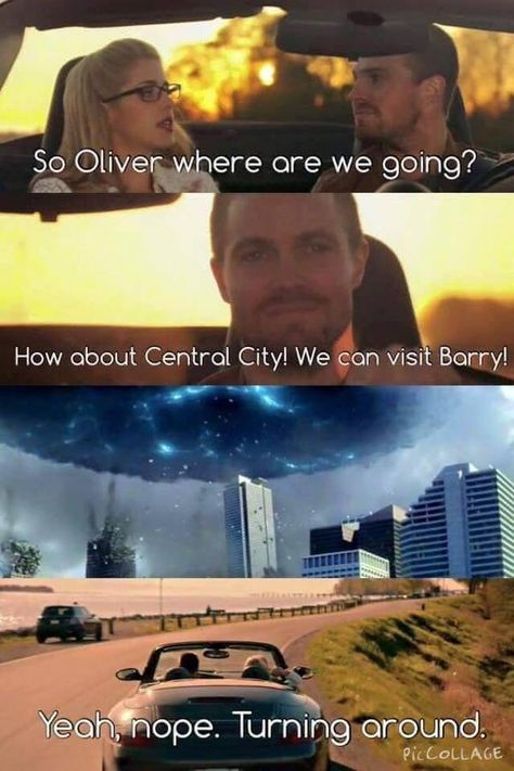 """Um maybe supergirl can help. Shit -calls barry- """"hey dude can you get me to supergirl plz.thanks dude"""".-turns of phone- """"he said he can help in a few days"""" Superhero Shows, Superhero Memes, Team Arrow, Arrow Tv, Arrow Quote, Supergirl Dc, Supergirl And Flash, Arrow Flash, Aliens"""