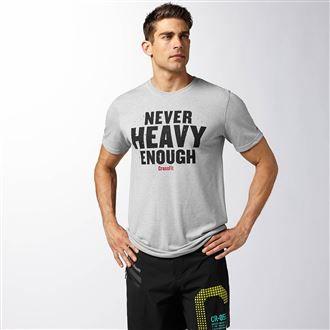 Reebok Never Heavy Enough Grey. #SVSports #Reebok #Crossfit