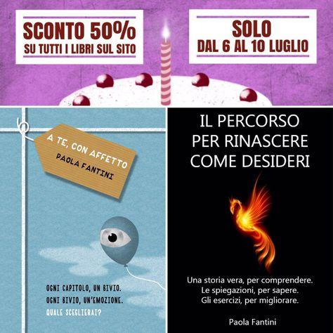 Domani è il compleanno di  SOLO dal 6 al 10 luglio. SCONTO 50% ♥ https://storiedicoaching.com/ebook/  #libro #ebook #sconto #promozione #ateconaffetto #percorso #rinascere #palloncino #arabafenice #fenice #candela #torta #compleanno #regalo