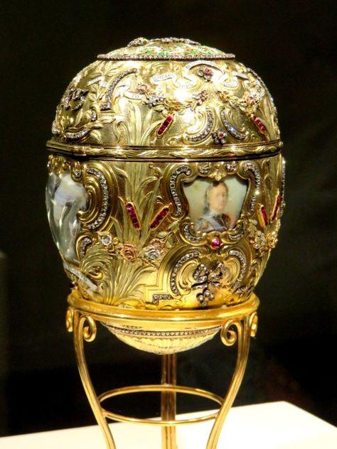 kasten und Dekorativ Rot Russischer Stil Faberge Inspired Osterei Schmuckstück