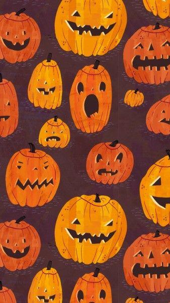 Jack O Lantern Wallpaper Pumpkin Wallpaper Halloween Wallpaper Iphone Retro Halloween