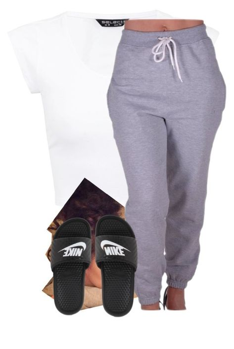 Goodnite by deasia-still-thugin-honey ❤ liked on Polyvore featuring beauty, CO and NIKE