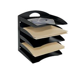 Office Depot 58 Recycled 5 Tier Horizontal Desk Organizer Letter Size 13 1 4in H X 12 1 8in W X 8 3 4in Desk Organization Office Depot Basic Office Supplies