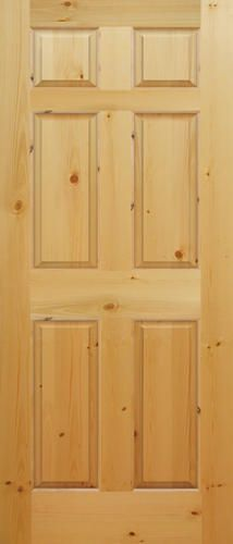 Mastercraft 32 X 80 Ready To Finish Knotty Pine Raised 6 Panel Interior Door Slab Prehung Interior Doors Interior Closet Doors Interior