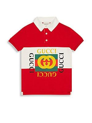05a8b707cb72 Gucci Boy's Printed Heavy Jersey Short-Sleeve Polo | KIDS NEW SEASON ...