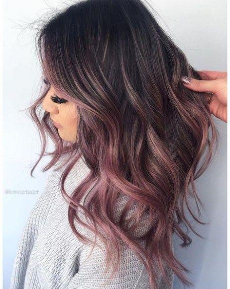New Hair Pink Brunette Highlights 64 Ideas Blackberry Hair Colour Hair Color For Fair Skin Hair Color Rose Gold