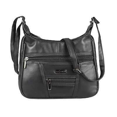 DAMEN TASCHE Shopper Schultertasche Cross over Body Bag Umhängetasche Street