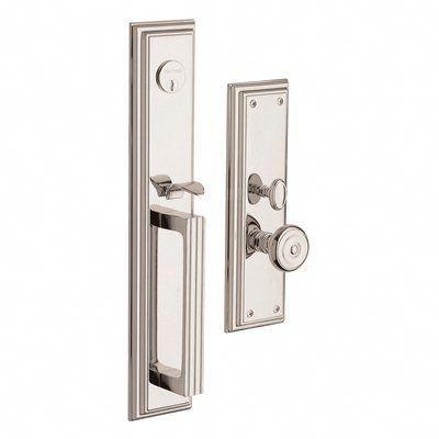Baldwin Hardware 6542 Tremont Set Trim Front Door Handle Polished Nickel Frontdoor Front Door Handles Victorian Front Doors Exterior Doors With Sidelights