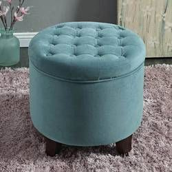 Poteau 19 Tufted Round Storage Ottoman With Images Tufted